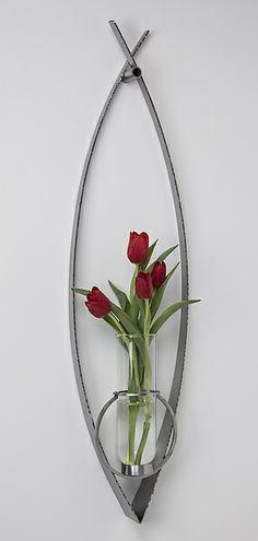 New Leaf Vase: Julie Girardini, Ken Girardini: Metal Vase | Artful Home