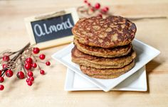 almond flax pancakes!: 1c almond flour 3/4c flax, cinnamon, baking soda, 3 eggs, 1/4c yogurt, 1/4c milk, 1/4c honey, 1/3c coconut oil, vanilla