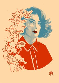 Twin Peaks: Laura's Diary Donna Hayward Orchids Print (A3) by KimThompsonArt on Etsy https://www.etsy.com/listing/264732508/twin-peaks-lauras-diary-donna-hayward