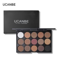 UCANBE Brand 5 Styles Eyeshadow Makeup Palette 15 Earth Color Matte Pigment Glitter Brick Red Eye Shadow Palettes Cosmetic Set //Price: $9.95 & FREE Shipping //     #GAMES