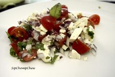 Fresh and Fast Feta Salad - Yum! Feta Salad, Caprese Salad, My Recipes, Fresh, Food, Eten, Meals, Diet