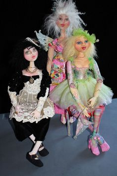 Dolls created in DVD Cloth Doll Inspirations