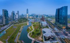 Songdo Central Park - New City   Songdo Central Park in Songdo  District, Incheon South Korea.