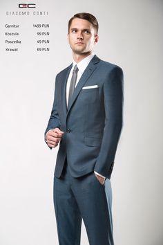 Stylizacja Giacomo Conti: Garnitur MARCUS 2  E14/17 B, koszula LORENZO 011 slim, buty G 6942.