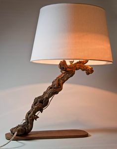 Luxurious Lamp Driftwood Lamp Natural Lamp Handmade by MarzaShop, $85.00