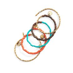 This colorful 5-in-1 beaded wrap bracelet makes a statement on its own. Try it with a chunky boyfriend watch or let it stand out its own. (Stitch Fix Tonia Beaded Wrap Bracelet)