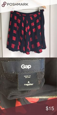 Navy and red Gap Skirt Fun gap skirt, dress it up or down GAP Skirts Midi