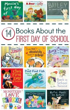 First Day of School Books – Fantastic Fun & Learning Books About the First Day of School from Fantastic Fun and Learning First Day School, Beginning Of The School Year, New School Year, School School, High School, Back To School Activities, Book Activities, Preschool Activities, School Ideas