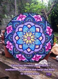 Oh The Artwork! This Mandala Art with These Particular Color Choices is Gorgeous. - Oh The Artwork! This Mandala Art with These Particular Color Choices is Gorgeous! Mandala Drawing, Mandala Painting, Dot Art Painting, Tole Painting, Turkish Art, Zen Art, Arabesque, Stone Art, Mandala Design