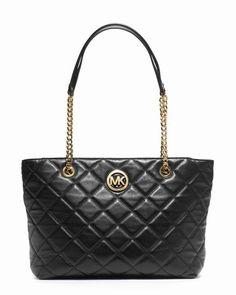 Michael Kors Große Fulton Gesteppte Tasche Schwarz #bags#jewellery|#jewellerydesign}