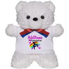 NUMBER 1 GYMNAST Teddy Bear http://www.cafepress.com/sportsstar/10114301  #Gymnastics #Gymnast #IloveGymnastics #Gymnastgifts #WomensGymnastics #Personalizedgymnast #Gymnastinspiration