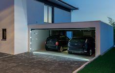 Zubehör - Bangerl Fertiggaragen. Die Nummer 1 bei Fertiggaragen. Car Garage, Garage Doors, Villa Pool, Modern Garage, Carports, Garage Lighting, Driveway Gate, Garage Design, Garage Storage