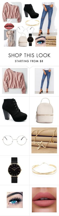 """""""#SchoolDay2"""" by morgane-222 on Polyvore featuring mode, American Eagle Outfitters, Forever 21, Nasty Gal, CLUSE, Lana Jewelry et MINX"""
