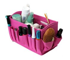 Clever Container Stuff It- Pink.  Such a Sassy way to store your goodies!! http://www.mycleverbiz.com/NLVClutterControl/ #MakeUpOrganizer #CraftSupplyOrganizer #CleverContainer