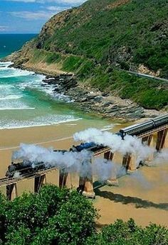 South Africa Travel Inspiration - Wilderness, Kaaimans Bridge, The Garden Route, South Africa. South African Railways, Namibia, Out Of Africa, Kenya Africa, Africa Art, Cape Town, All Nature, Africa Fashion, Africa Travel