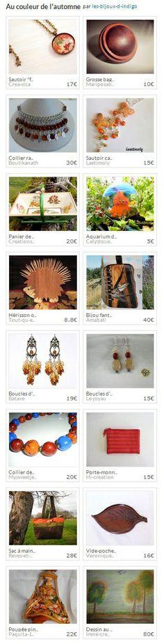 Collection Au couleur de l'automne par les-bijoux-d-indigo. http://www.alittlemarket.com/collection/au_couleur_de_l_automne-293181.html