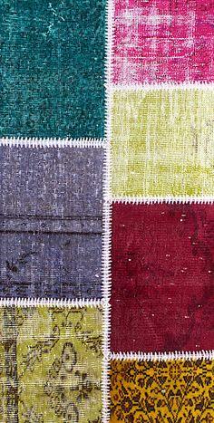 Vintage Patchwork Teppich - mozaiik Unikat Nr. 132TP Carpets, Kids Rugs, Design, Home Decor, Scrappy Quilts, Vibrant Colors, Vintage Rugs, Handarbeit, Farmhouse Rugs