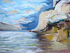 "Gianluca Madonia, 60x80 olio su tela, ""Dove finisce il mare"""