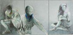 "Saatchi Art Artist Alejandro Hermann; Painting, ""Triptico, Tres personajes"" #art"