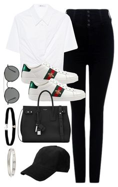 """""""Untitled #3705"""" by theaverageauburn on Polyvore featuring Citizens of Humanity, T By Alexander Wang, Gucci, Yves Saint Laurent, Ray-Ban, rag & bone, Amanda Rose Collection and Cartier"""