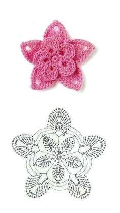 9 Patrones de Flores al Crochet - DIY Crochet Diy, Crochet Motifs, Crochet Diagram, Thread Crochet, Love Crochet, Crochet Crafts, Crochet Projects, Crochet Stitches, Crochet Doilies
