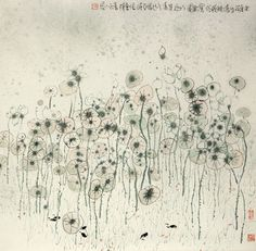Zhu Daoping(朱 道平 Chinese, b.1949)LOTUS http://thenletitbe.tumblr.com/post/53777100253/iamjapanese-zhu-daoping-chinese-b-1949