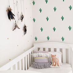 """""""We have cactus fever over here! These removable decals from @onehundredpercentheart are so fun! Use code """"ministyle"""" and get 15% off everything!"""" Photo taken by @ministyleblog on Instagram, pinned via the InstaPin iOS App! http://www.instapinapp.com (07/22/2015)"""
