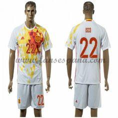 Camisetas De Futbol Barata España 2016 Isco 22 Segunda Equipación