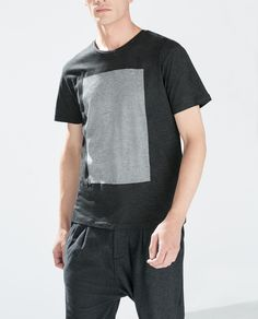 Image 2 of SQUARE PANEL T-SHIRT from Zara $29.90