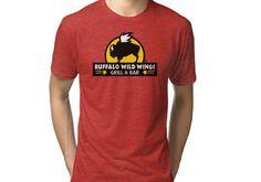 2de966935 buffalo wild wings Tri-blend T-Shirt Buffalo Wild Wings, Classic T Shirts