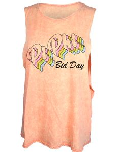 Pi Beta Phi Retro Bid Day Tank Top by Adam Block Design | Custom Greek Apparel & Sorority Clothes | www.adamblockdesign.com