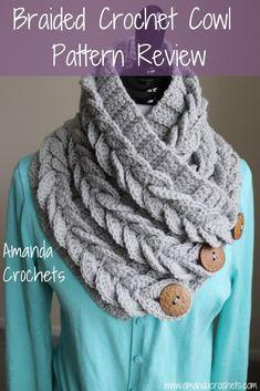 New braids crochet scarf cowl pattern Ideas Crochet Cowl Free Pattern, Crochet 101, Free Crochet, Crochet Patterns, Knitting Patterns, Cowl Patterns, Knitting Tutorials, Hand Crochet, Knitting Projects
