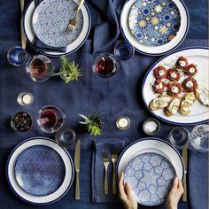 Hanukkah Blue Mosaic Salad Plates, Mixed Set of 4 Hanukkah Candles, Hanukkah Decorations, Feliz Hanukkah, Hannukah, Happy Hanukkah, Dinner Plate Sets, Dinner Plates, Williams Sonoma, How To Celebrate Hanukkah