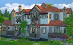 Provence house No.1 at JarkaD Sims 4 Blog via Sims 4 Updates