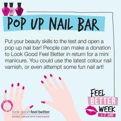 Pop up nail bar! #Fundraising Idea