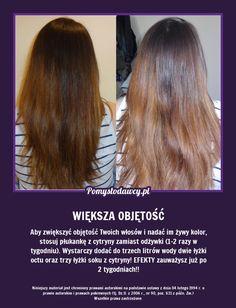 SUPER TRIK NA WIĘKSZĄ OBJĘTOŚĆ TWOICH WŁOSÓW! Homemade Cosmetics, Hair Hacks, Salons, Life Hacks, Beauty Hacks, Health Fitness, Hair Beauty, Make Up, Herbs