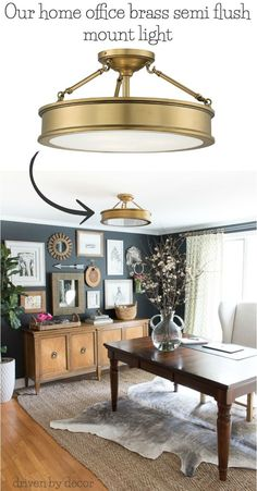 Love this light! This one for the living room, other brass one for hallway (and foyer), and ceiling fan in guest bedroom.