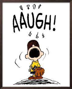 *AAUGH!! Charlie brown baseball