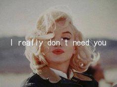 This is my idol. Marilyn Monroe is perfffff. Marilyn Monroe Fotos, Marylin Monroe, Marilyn Manson, Dont Need You, Gene Kelly, Just Dream, Norma Jeane, Independent Women, Brigitte Bardot