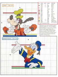 Schema punto croce Walt disney