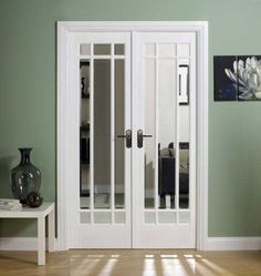 White double doors - glazed