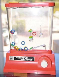 I so had one of these. I totally forgot about the mindless hours I would spend trying to get those freaking rings on the stick!