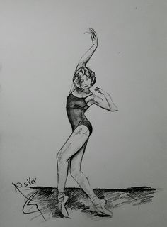 #ballet #dance #drawing by siver serwer