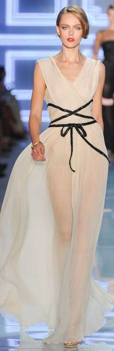 Christian Dior ~ Evening Gown, Sheer Beige, Haute Couture