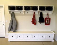 Little mudroom in the garage