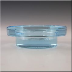 Iittala Blue Glass 'Halo' Candle Votive/Bowl - Labelled - £29.99