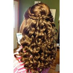 23 Prom Hairstyles Ideas for Long Hair PoPular Haircuts ❤ liked on Polyvore featuring beauty products, haircare, hair styling tools, hair et hairstyles