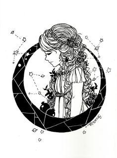 canvasconstellations: Persephone!Cress for inktober