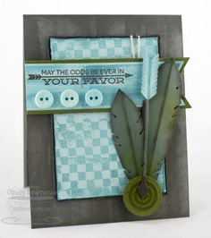 Document It - Right on Target; Distressed Background Blocks; Accent It - Feathers and Arrows Die-namics;  Circle STAX Set 1 Die-namics - Cindy Lawrence