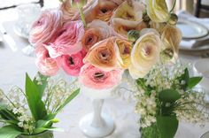 Are these ranunculus? Love 'em! Photography by angelacappetta.com, Event Design & Coordination by expeventdesign.com